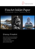 "Hahnemuhle Glossy FineArt Sample pack - includes 2 x 8.5'"" x 11"" sheets each of seven media types"