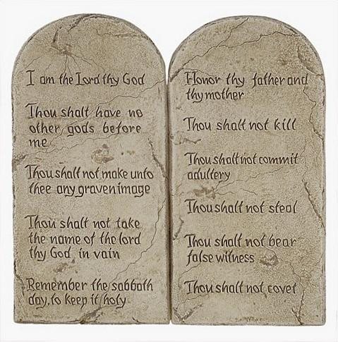 Ten Commandments (Decalogue) - Large 10 Commandments - Photo Museum Store Company