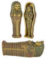 Sarcophagus (Coffin) of King Tutankhamun with small King Tut inside. - Photo Museum Store Company