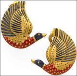 Egyptian Duck Earrings - Photo Museum Store Company