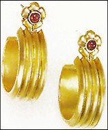 Egyptian Garnet Earrings - Photo Museum Store Company