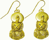 Sekhmet - Lion Headed Goddess of Medicine and Healing - Earrings - Photo Museum Store Company
