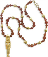 Sekhmet - Lion Headed Goddess of Medicine and Healing - Necklace with Carnelian - Photo Museum Store Company