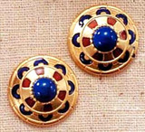 Royal Egyptian Clip Earrings - New Kingdom, 18th Dynasty,1555-1085 B.C. - Photo Museum Store Company