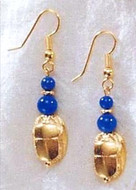 Scarab & Lapis Earrings - Egyptian - Photo Museum Store Company