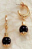 Middle Kingdom Black Onyx Earrings - Egyptian, 2100 - 1700 B.C. - Photo Museum Store Company
