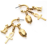 Egyptian Amulets Hoop Earrings - Ancient Egypt - Photo Museum Store Company