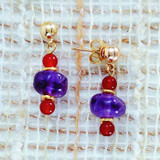 Egyptian Amethyst Drop Earrings - Photo Museum Store Company