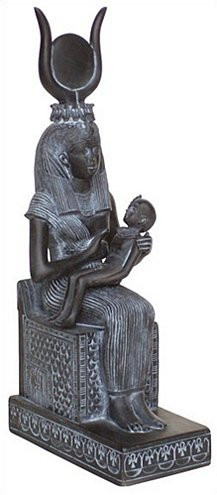 Isis Nursing Horus - Egyptian Museum, Cairo. 19th Dynasty 1300 B.C. - Photo Museum Store Company