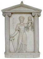 Blind Lady of Justice Plaque (Themis) : Perfect for Every Attorney, Lawyer & Judge - Photo Museum Store Company