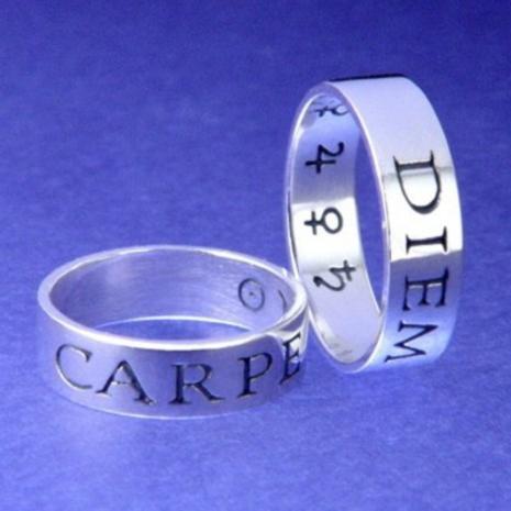 Carpe Diem Ring (Seize The Day) : Roman, Quintus Horatius Flaccus, 65BC - Posey & Inscribed Ring - Photo Museum Store Co