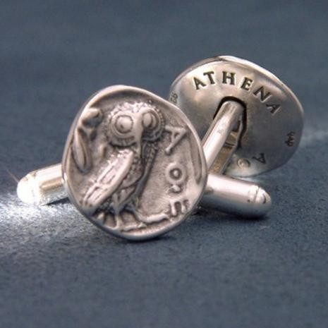 Athenian Owl Cufflinks : 525 - 430BC : Art Institute of Chicago - Photo Museum Store Company
