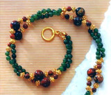 Jade & Jasper Twist Necklace, Gemstone - Photo Museum Store Company