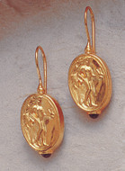 Aphrodite Coin Earrings - Greek, c. 480 B.C. - Photo Museum Store Company