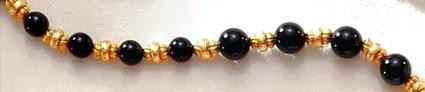 Greco-Roman Black Onyx Necklace - Etruscan, 8th - 5th Centuries B.C. - Photo Museum Store Company