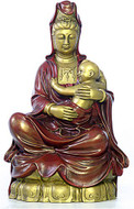 Kuan-Yin with baby - Photo Museum Store Company