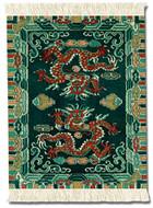 Tibetan Dragon: Asian Miniature Rug & Mouse Pads - Photo Museum Store Company