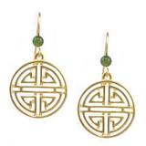 Shou Symbol with Jade Earrings - Chinese from the collection of the Peabody Essex Museum - Photo Museum Store Company