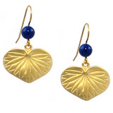 Aoi Leaf with Lapis Earrings - Japanese, early 19th Century, Sackler Gallery, Smithsonian - Photo Museum Store Company