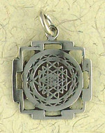 Sri Yantra Pendant on Cord : Hindu & Buddhist Collection - Photo Museum Store Company