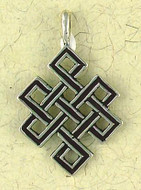 Eternity Knot Pendant on Cord : Hindu & Buddhist Collection - Photo Museum Store Company