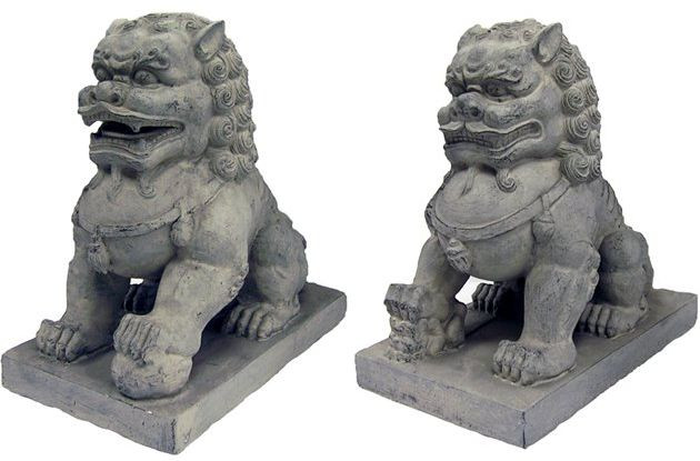 Large Set Of Foo Dogs   Photo Museum Store Company