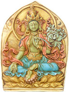 Green Tara relief stone finish - Photo Museum Store Company