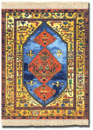 Antique Heriz - Miniature Rug & Mouse Pad - Photo Museum Store Company