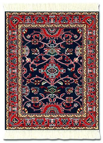 Deep blue bergamo turkish miniature rug museum store for International home decor rugs