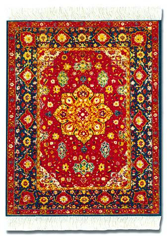 Red Silk Medallion Rug Miniature Rug U0026 Mouse Pad: Red Group   Persian    Photo