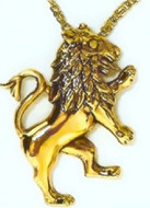 Lion Motif Pendant, Collection of Judaic Jewelry - Photo Museum Store Company