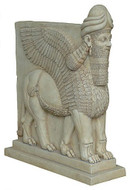 Assyrian Lamassu Winged Lion - Metropolitan Museum of Art, New York, 883  859 B.C. - Photo Museum Store Company