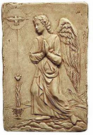 Archangel Gabriel :  L.A. County Museum of Art, Los Angeles. 1480 A.D. - Photo Museum Store Company