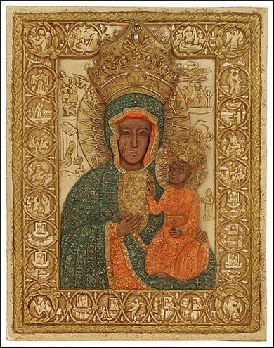Black Madonna of Czestochowa - Icon Monastery of Jasna Gora, Czestochowa, Poland - Photo Museum Store Company