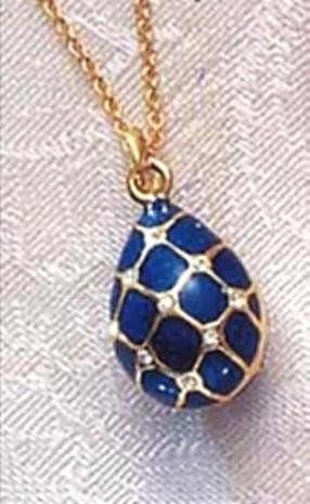Imperial blue argyle egg pendant museum store company gifts imperial blue argyle faberge inspired egg pendant russia 18th 19th century photo aloadofball Choice Image