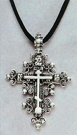 Anchors of Faith Pendant - Russian Orthodox Baptismal Cross - Oleg I. Pantuhoff (1882-1973) - Photo Museum Store Company