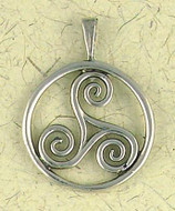 Talisman of the Sacred Three Pendant on Cord : Celtic and Irish Collection - Photo Museum Store Company