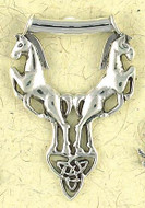 Celtic Horses Pendant on Cord : Celtic and Irish Collection - Photo Museum Store Company