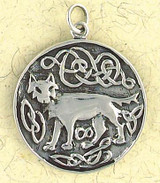Celtic Wolf Pendant on Cord : Celtic and Irish Collection - Photo Museum Store Company