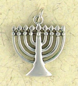 Menorah  Pendant on Cord : Judiaca Collection - Photo Museum Store Company