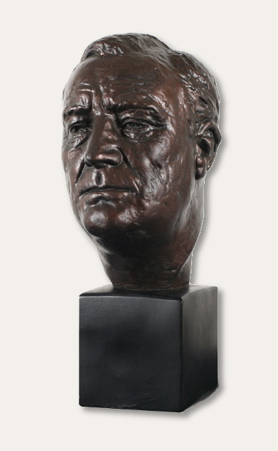 Franklin Delano Roosevelt, FDR Bust - Photo Museum Store Company