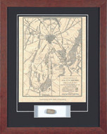 Gettysburg Map - with Artifact, Relic - Photo Museum Store Company