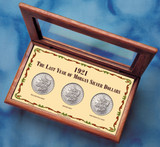 Collector's 1921 Last Year Morgan Silver Dollar Complete Mint Mark Collection - Actual Authentic Collectable - Photo Mus