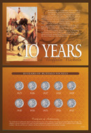 Collector's 10 Years of Buffalo Nickels - Actual Authentic Collectable - Photo Museum Store Company