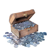 Collector's Treasure Chest of 1943 Lincoln Steel Pennies - Actual Authentic Collectable - Photo Museum Store Company