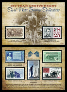 Collector's 150th Anniversary Civil War Commemorative Stamp Collection - Actual Authentic Collectable - Photo Museum Sto