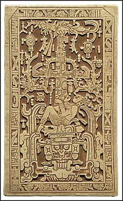 Lid of the Sarcophagus of Palenque - Temple of Inscriptions - Palenque, 692 A.D. - Photo Museum Store Company