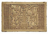 Tablet of the Foliated Tree of Life - Temple of the Foliated Cross, Palenque, Mexico 698 A.D. - Photo Museum Store Compa