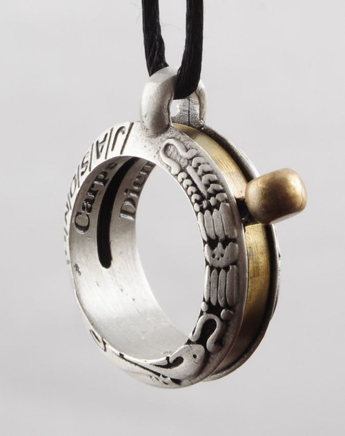 Aquitaine Aztec New World Themed Sundial Ring Pendant - 12th Century  - Photo Museum Store Company