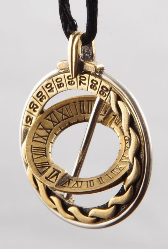 Explorer Celtic Design Sundial Ring Pendant Handcrafted